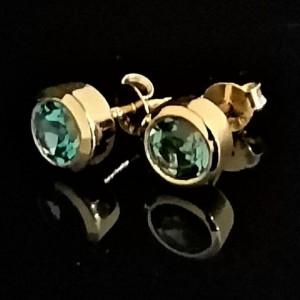 Cercei delicati-SIMONA- argint placat cu aur- VE015015 London Topaz