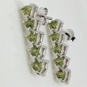 Cercei din argint cu surub VE016423-peridot