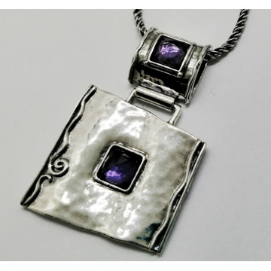 Colier argint ametist - N487