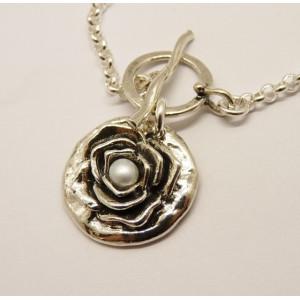 Colier argint N4134 -perla