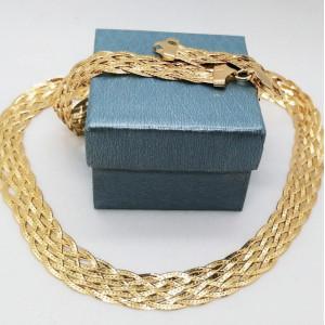 Colier argint placat cu aur impletit in 8 lanturi -CTBTBP6LI8F35
