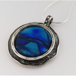 Colier din argint abalone-N2355