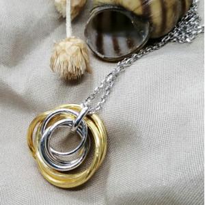 Colier PAVIA -argint si argint placat cu aur- CTST1299RBGIA