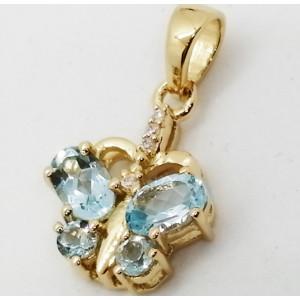 Denver - Pandantiv argint placat cu aur galben -VP018431-topaz