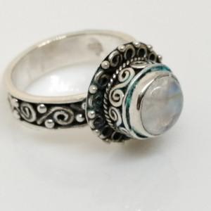 Inel argint antichizat RG4 piatra lunii