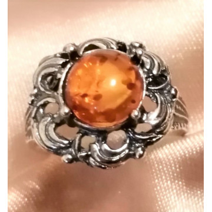 Inel argint chihlimbar R1583