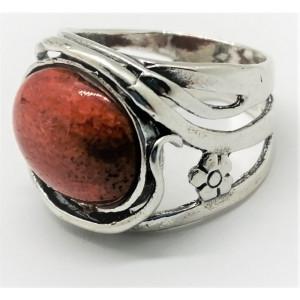 Inel argint -coral-R921