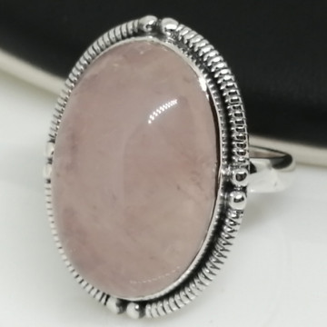 Inel argint cuart roz- R35