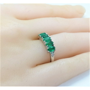 Inel argint onix verde -VR018333