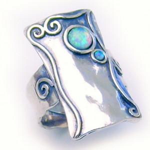 Inel argint OPAL- vintage style R1818