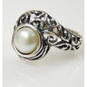 Inel argint perla R1807
