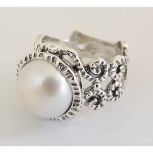 Inel argint perla R1897