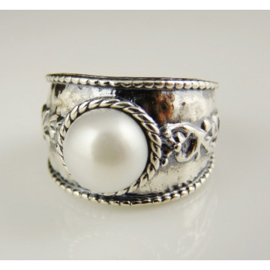 Inel argint perla R2300