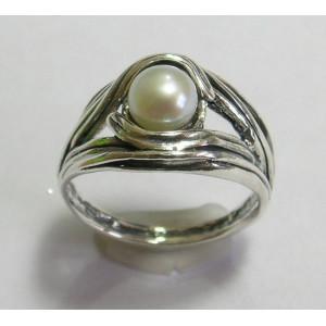 Inel argint perla R6671
