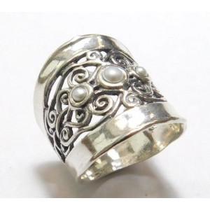 Inel argint R10506-1 perle