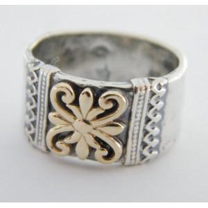 Inel argint  si aur 14k   R1899
