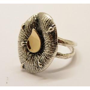 Inel argint si aur 9 k-10351