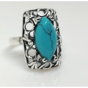 Inel argint turcoaz R2060