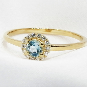 Inel delicat TANIA-argint placat si aur - topaz VR011545