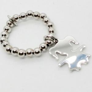Inel elastic argint -simbol fetiță -R18 1546 -1264 valabil pentru marimi 52 pana la 60