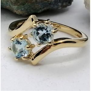 Inel Petra -argint placat si aur -topaz-VR032896