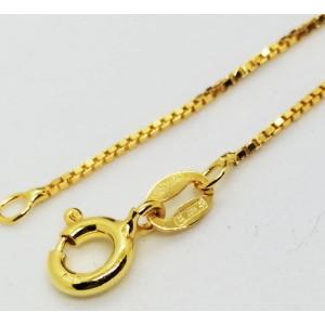 Lantisor NOVARA- argint placat cu aur galben-CTAL0015KVD-45 cm lungime
