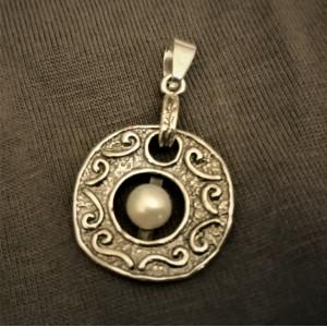 Pandantiv argint cu perla P2077