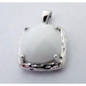 Pandantiv argint onix alb -VP09801