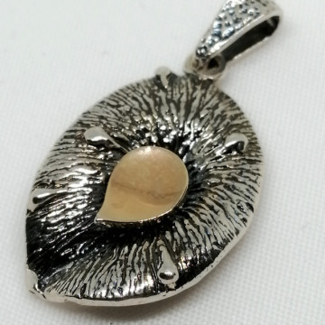 Pandantiv argint si aur 9 k-20253
