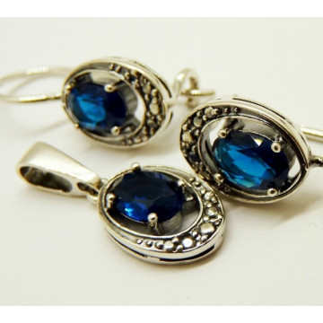 Set argint -blue quartz -R1587SN.B