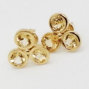 Soria -cercei argint placat cu aur si citrin-VE018155