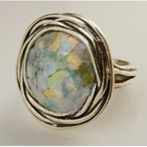 Inel argint sticla romana R8188-1