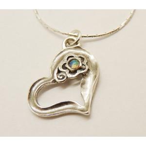 Colier din argint cu opal- N9033