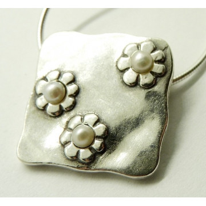 Colier argint perla -N1554