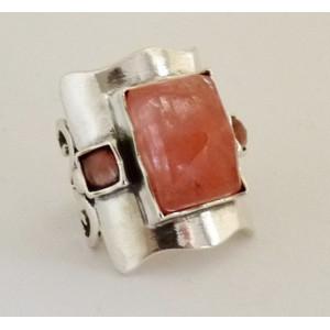 Inel argint R3222 - cherry quartz