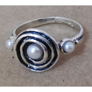 Inel argint- R1007 perla
