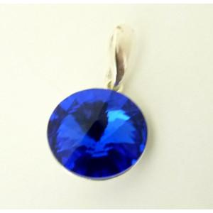 Pandantiv argint Swarovski Dark Sapphire-E2329-1221