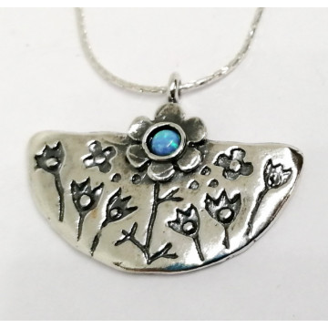 Colier argint opal -N4468
