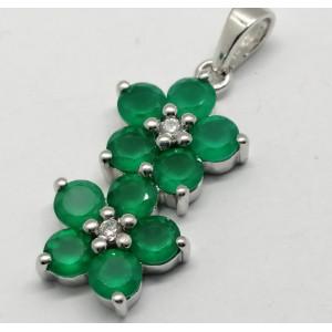 Pandantiv argint VP016717- onix verde