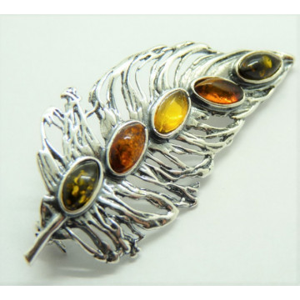 Brosa argint chihlimbar BRO2242-2