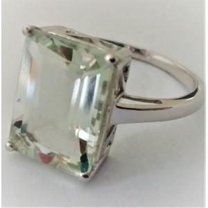 Inel argint green ametist -VR016010