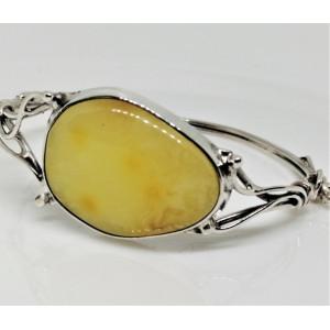 Bratara argint -chihlimbar galben - B1634-2