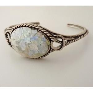 Bratara argint cu sticla romana- B8585