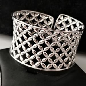 Bratara argint lata, semideschisa ,reglabila -BRST0532AG40