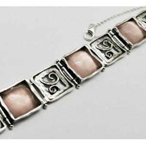 Bratara de argint  B3383-1 cuart roz