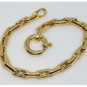 Bratara impletita -argint placat cu aur-BRST0196PLGIA