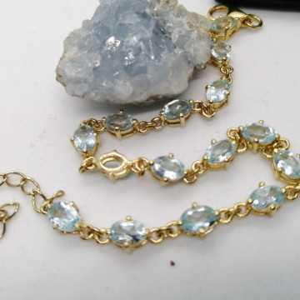 Bratara Nicole -argint placat cu aur si topaz VB032687