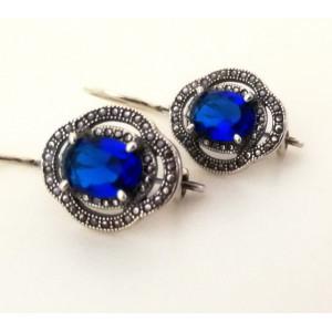 Cercei argint -blue quartz -E2855