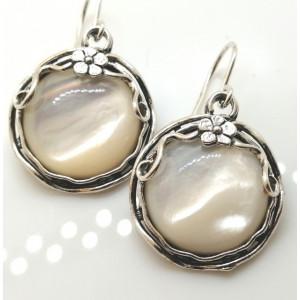 Cercei argint cu sidef E1606