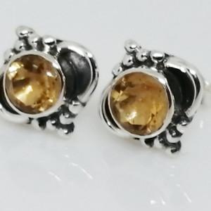 Cercei argint cu surub-citrin - E256